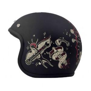 Casque DMD Born free - Jet moto vintage