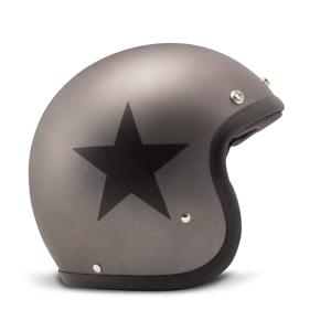 Casque dmd Star Grey - jet moto vintage