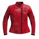 Blouson moto Difi Lady She Devil cuir vintage rouge