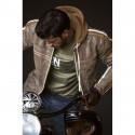 Blouson moto cuir Difi Bullet vintage