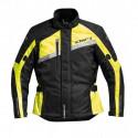 Veste moto Difi Phantom noir/jaune