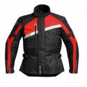 Veste moto Difi Phantom noir/rouge