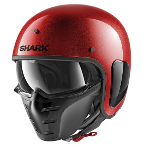 Casque Shark S-Drak Glitter rouge