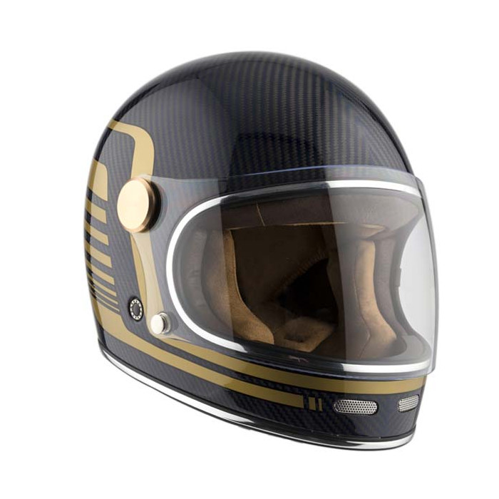 Casque By City Roadster carbon moto vintage