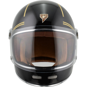 Casque By City Roadster Gold Black moto vintage