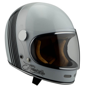 Casque By City Roadster White II integral moto vintage
