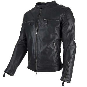 Veste By City Street Cool cuir moto été noire