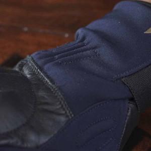 Gants moto By City Arctic cuir et textile bleus
