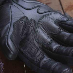Gants moto By City Arctic cuir et textile noirs