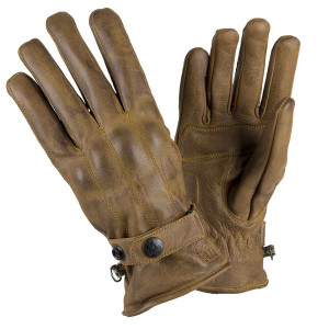 Gants By City Elegant cuir vintage beige