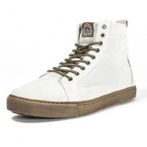 Chaussures John Doe Neo White sneaker moto