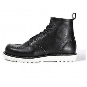 Chaussures John Doe Rambler black de moto en cuir