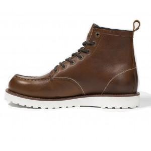 Chaussures moto John Doe Rambler Cognac marron vintage