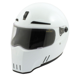 Casque Bandit Alien II blanc moto look street fighter