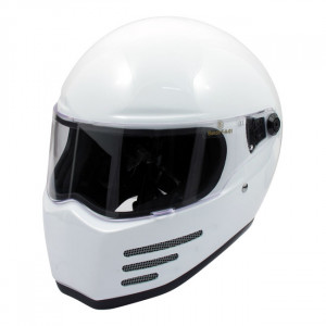 Casque bandit fighter blanc de moto homologué