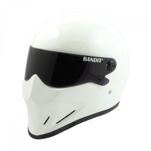 Casque Bandit Crystal blanc moto street fighter