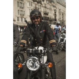 Casque Hedon Stable noir mat jet Moto vintage