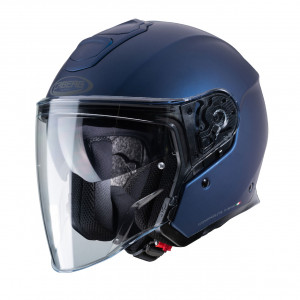 Casque Caberg Flyon bleu mat Yamaha jet moto fibres composites