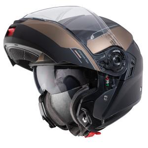 Casque Caberg Levo Prospect modulable moto noir bronze