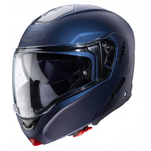 Casque Caberg Horus bleu mat Yamaha modulable moto