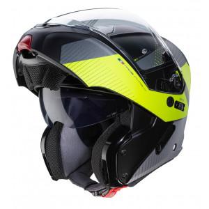 Casque Caberg Horus Scoot Jaune fluo modulable moto scooter