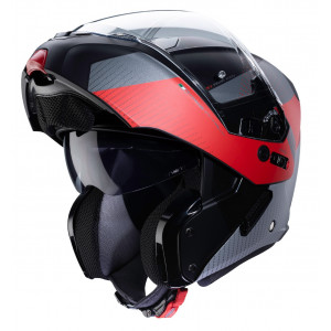 Casque Caberg Horus Scoot rouge modulable moto scooter