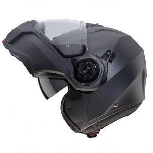 Casque Caberg Droid gris mat gun metal modulable moto scooter