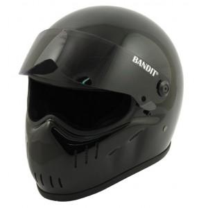 Casque Bandit XXR gloss black street fighter helmet