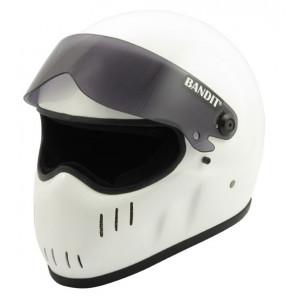 Casque moto dragster Bandit XXR blanc