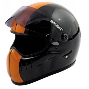 Casque bandit XXr orange noir dragster moto street fighter