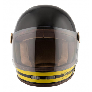 Casque By City Roadster jaune integral moto vintage