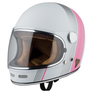 Casque By City roadster rose blanc moto vintage