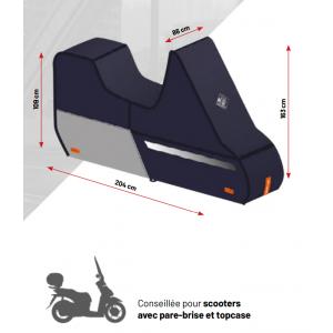 Housse de protection scooter équipé pare brise top case Tucano Urbano 218 PRO
