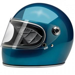 Casque Biltwell Gringo S bleu Pacific Blue