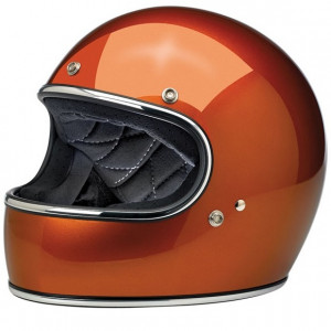 Casque Biltwell Gringo Gloss Cooper orange métallisé