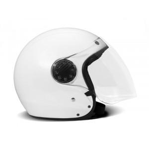 Casque DMD A.S.R JET pearl white fibre moto scooter 1