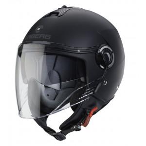 Casque caberg riviera V4 noir mat scooter moto 1