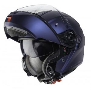 Casque Caberg Levo bleu mat Yamaha modulable moto 2