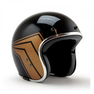 Casque Roeg X 13 1/2 Skull Bucket gloss black scooter moto 1