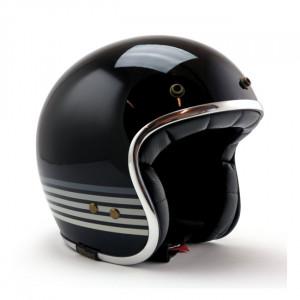 Casque Roeg graphite sky gloss black vintage scooter moto 1