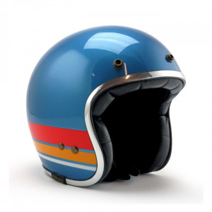 Casque Roeg bronco gloss blue vintage scooter moto 1