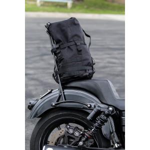 Sac à dos Burly brand Voyager noir cordura et cuir vintage moto 6