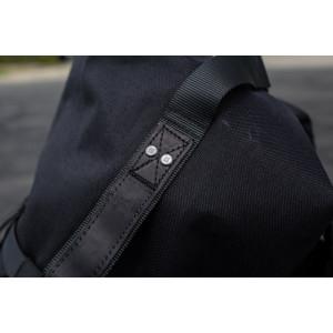 Sac à dos Burly brand Voyager noir cordura et cuir vintage moto 5