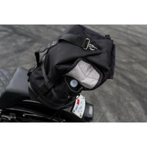 Sac à dos Burly brand Voyager noir cordura et cuir vintage moto 7