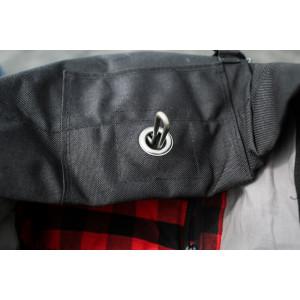 Sac à dos Burly brand Voyager noir cordura et cuir vintage moto 10