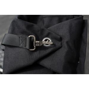 Sac à dos Burly brand Voyager noir cordura et cuir vintage moto 11