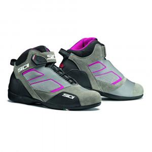 Chaussures moto femmes Sidi Meta gris et rose