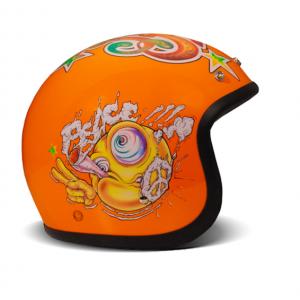 Casque DMD Rock n roll jet vintage orange 1