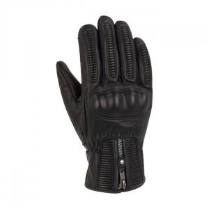 Gants Segura sultan moto noirs cuir look rétro
