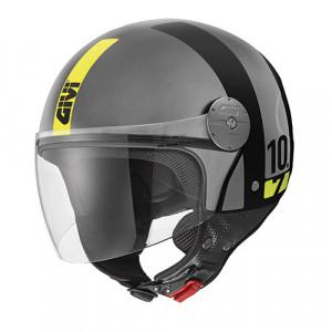 Casque Givi Mini-J 10.7 Concept noir gris bande jaune